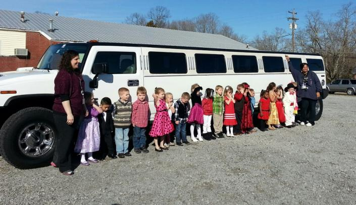 [Image: homecoming limousine for Burns Headstart, provided by Courtesy Limousine Service. ]
