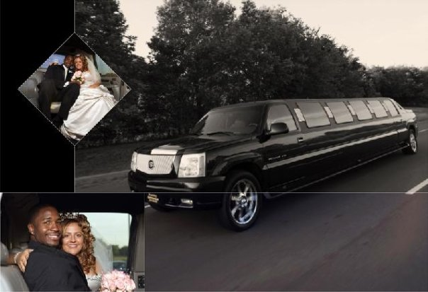 There's plenty of room for the entire bridal party in a stretch limousine!
