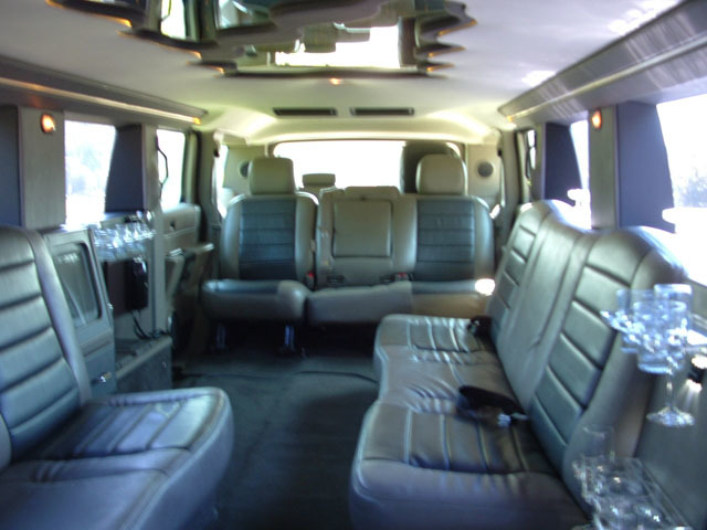Plenty of room inside this Stretch H2 Hummer