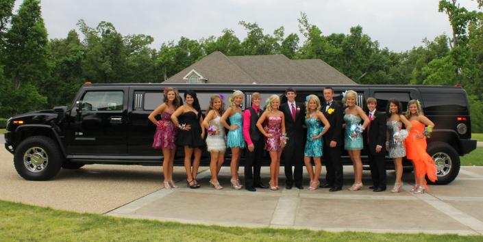 [Image: You and all your friends can ride in style to the prom or ANY occasion in our Hummer Limo! ]
